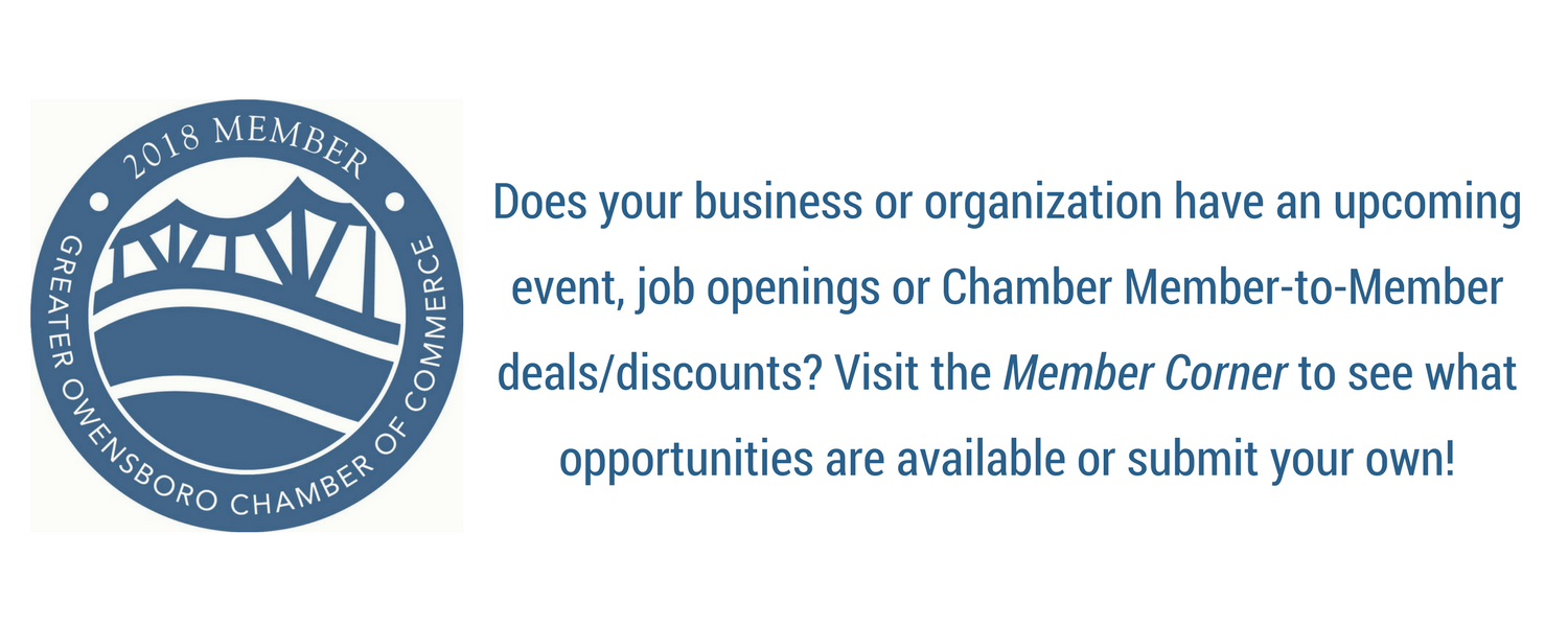 Member Corner Showcases Multiple Chamber Member Benefits